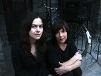 Shary Boyle and Christine Fellows from Everything Under the Moon. Photo by Marc de Guerre.