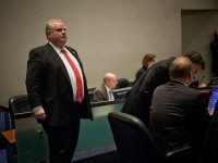 Rob Ford during city council's transit debate in February 2012.