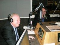 Rob and Doug Ford in the studio; photo courtesy of Newstalk 1010.