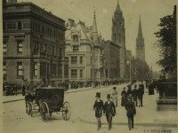 "Photo of Fifth Avenue on Sunday, New York City, 1898, from the {a href=""http://digitalgallery.nypl.org/nypldigital/id?801628""}NYPL Digital Gallery{/a}."