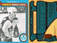 How a 1979/80 hockey card of Ron Wilson might have looked. Photo taken from The Toronto Maple Leafs 1979/1980 by Stan Obodiac (Toronto: McClelland and Stewart, 1979).