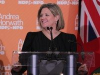 NDP leader Andrea Horwath on the day the budget was introduced last month.