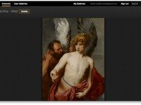 A screenshot of the AGO's {em}Daedalus And Icarus{/em}, by Anthony Van Dyck, as it appears in the Google Art Project interface.