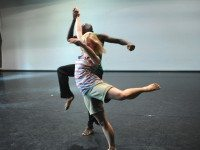 Pulga Muchochoma and Kaitlin Standeven rehearse Rivers. Photo by Guntar Kravis.