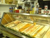 The seafood counter at Seaport Merchants.