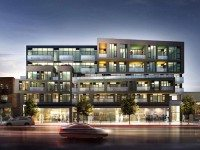 A rendering of the condo building proposed for 109 Ossington Avenue. Rendering by Reserve Properties.