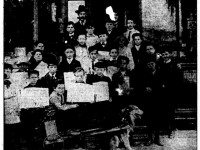 News newsboys, from the front page of the October 3, 1905 edition of the News.