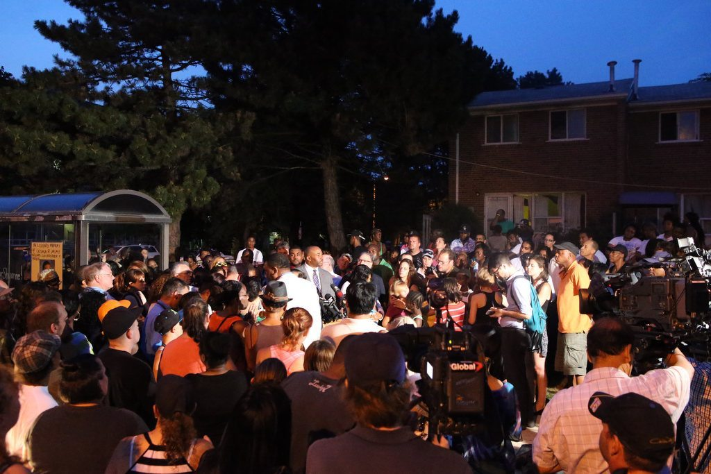 Vigil for the Dead after Toronto Multiple Shooting