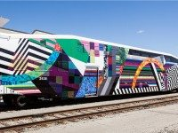 All aboard the Art Train–and free trips to Barrie this Sunday on GO! Photo courtesy of Natalie Petozzi.