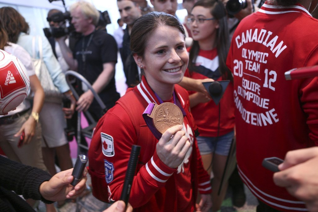 Team Canada Women's Soccer Returns Home From 2012 Olympics