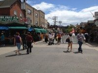 The crowd on a recent Market Sunday. Photo by Yvonne Bambrick.