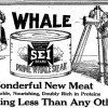 Advertisement for SEI brand canned whale steak.  The Toronto Star, June 6, 1919.