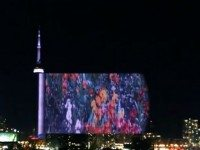 CN Tower's Flashing Images, Unfolding Like a Film Strip
