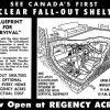 Regency Acres bomb shelter diagram, Toronto Star (January 17, 1959).