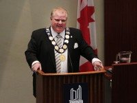Rob Ford at his inaugural meeting as mayor.