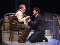 Joseph Ziegler and Ari Cohen return as Willy and Biff Loman in Death of a Salesman. Photo by Cylla von Tiedemann.