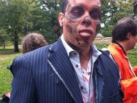 A zombiefied participant in Dare to Fight: Zombies Attack.