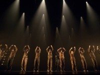Thirteen dancers pledge themselves the their mother nation throughout time in Hofesh Shechter's Political Mother. Photo by Simona Boccedi.