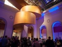 The lobby of the AGO transformed into a dancefloor at the first ever AGO 1st Thursdays event.