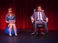 Actors Alice Moran and Patrick Whalen spoof blockbuster novel Fifty Shades of Grey in Spank!  The Fifty Shades Parody. Photo by Paul Schnaittacher.