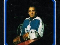 Jacques Plante as depicted on the cover of The Jacques Plante Story.