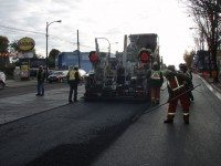 A Vancouver crew uses GreenMantra's product to pave a road. Photo courtesy of GreenMantra.