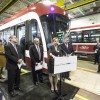Then Chair Karen Stintz, at a preview of the TTC's new streetcars.