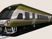 Rendering of a UP Express train. Image courtesy of Metrolinx.
