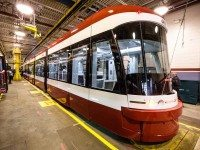 One of Toronto's new streetcars, photographed at a media preview in November.