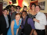 Jay McCarrol (2nd from L, plaid shirt) with the cast of Second City's Touring Company, circa August 2012. Photo by Emily Benjamin.