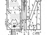 Diagram of table hockey game from Donald Munro's American patent, issued 1936. Google Patents.