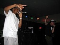 More or Les and Wordburglar on stage at the $5 Rap Show. Photo courtesy Wordburglar.