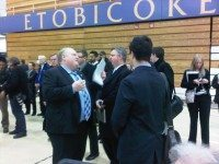 Mayor Rob Ford and his advisors attend the casino consultation at Etobicoke Olympium Gymnasium. Photos by Desmond Cole