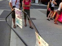 "A pro-choice rally on Roncesvalles last summer. Photo by {a href=""http://www.flickr.com/photos/jer1961/7466862568/""}jer1961{/a} from the {a href=""http://www.flickr.com/groups/torontoist""}Torontoist Flickr Pool{/a}."