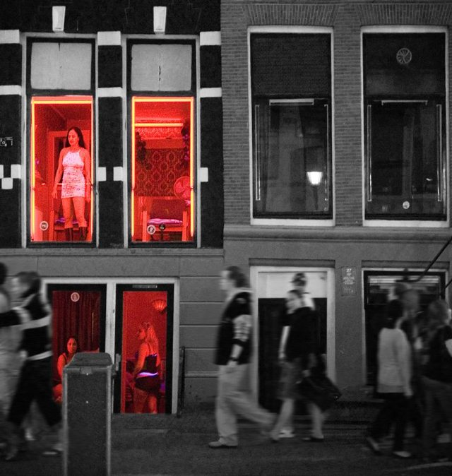 "Amsterdam's red light district. Photo by {a href=""http://www.flickr.com/photos/sevennine/538849680/""}sevennine{/a} from the {a href=""http://www.flickr.com/groups/torontoist""}Torontoist Flickr Pool{/a}."