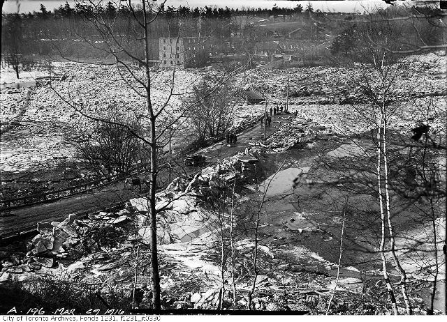 The remains of the bridge. City of Toronto Archives. Fonds 1231, Item 330.