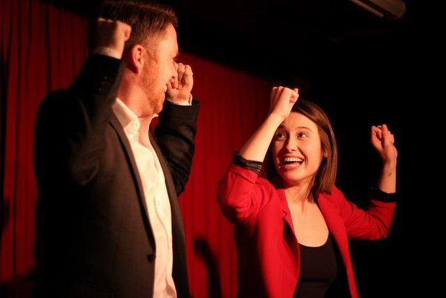 Jamie Northan and Lindsay Mullans play truth or dare. Photo by Kenway Northyork.