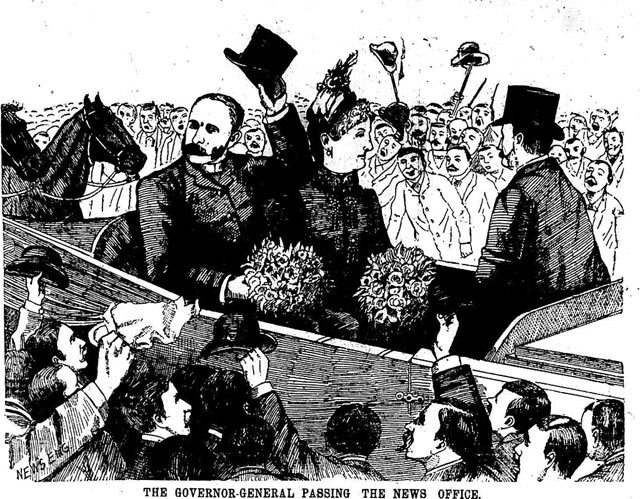 Cartoon, the News, May 4, 1887.