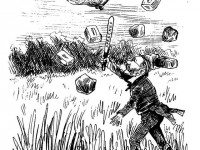 """O'Brien's Wild-Goose Chase."" Cartoon by J.W. Bengough, Grip, June 4, 1887."