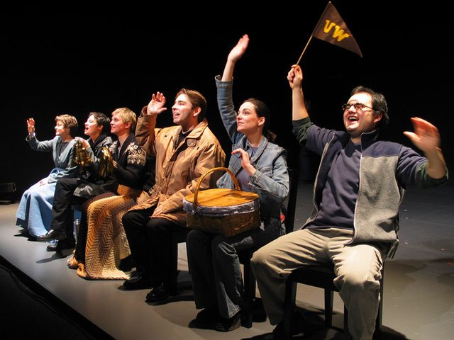 The cast of Studio 180's production of The Laramie Project, circa 2003  Photo by John Karastamatis