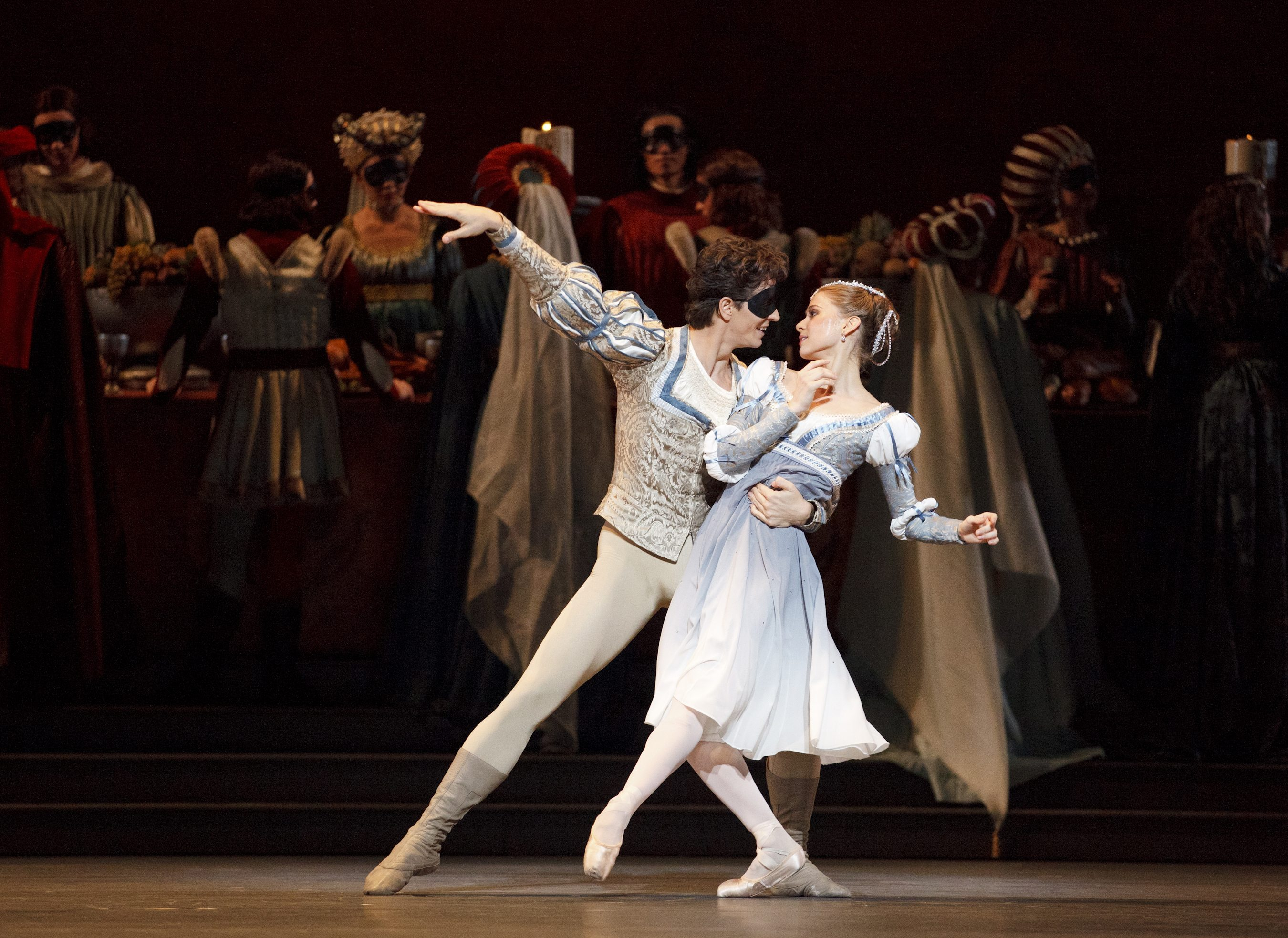Guillaume Côté and Elena Lobsanova star in Romeo and Juliet. Photo by Bruce Zinger.