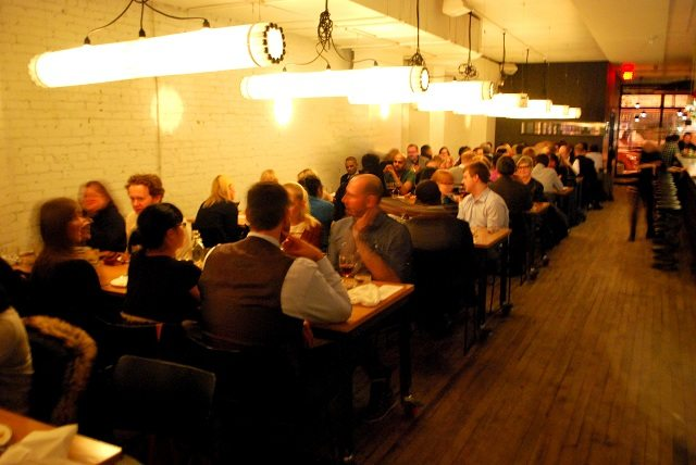 Guests await their mystery dinners at Parts & Labour.