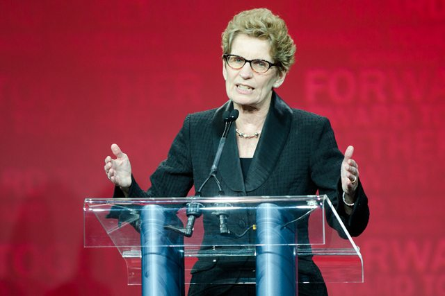 Kathleen Wynne at the Ontario Liberal Party's nominating convention