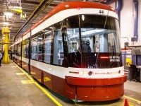 The TTC's new streetcar is going to be out on the town.