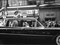 Queen Elizabeth II and Prince Philip riding down Bay Street, June 29, 1959. City of Toronto Archives, Fonds 1257, Series 1057, Item 4986.