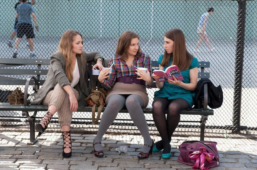 Jemima Kirke, Lena Dunham, and Zosia Mamet in Girls. Photo courtesy of HBO Canada.