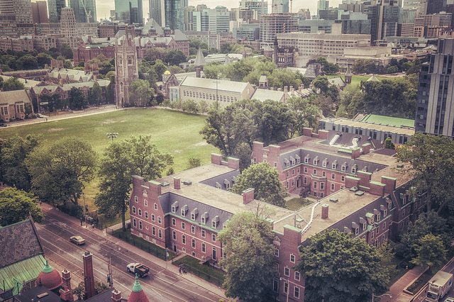 The back campus field, seen from above  Photo by Lychee Aloe, from the Torontoist Flickr Pool