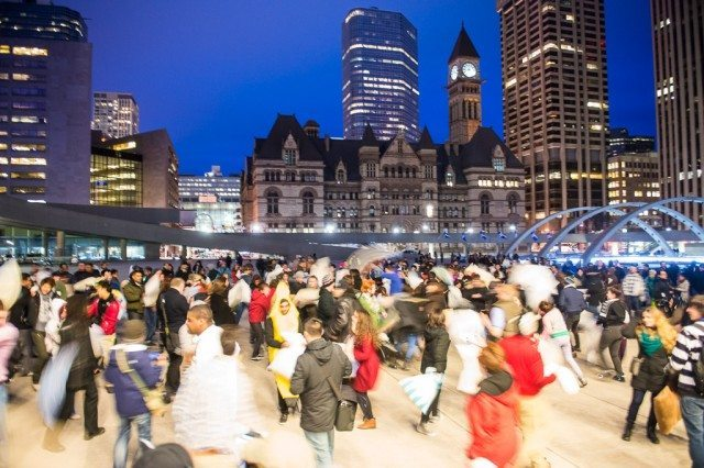 20130406 Newmindspace Pillow Fight Nathan Phillips Square 019 70  Photo by Corbin Smith
