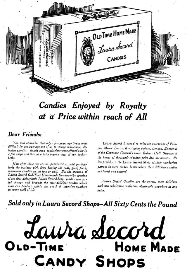 Advertisement, the Toronto Star, November 23, 1921