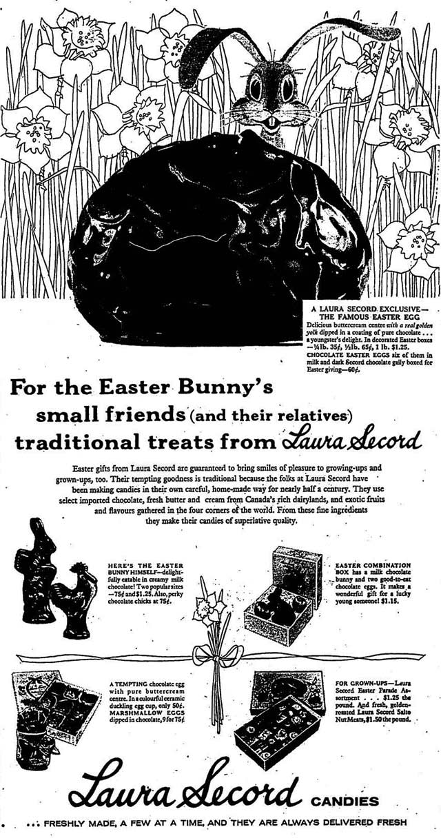 Advertisement, the Globe and Mail, April 2, 1958